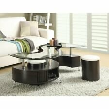 Milivoje Coffee Table with Storage and Two Stools
