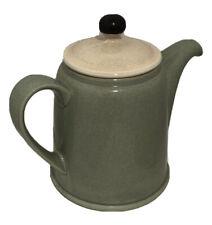 Denby Pottery England Sugar Bowl &  Teapot  Lid Celedon Jadite Green