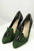 Diana Ferrari Green And Black Pumps 9 by Reluv Clothing