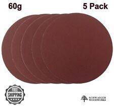 "12"" inch Sanding Disc, 60 grit, 5 Pack, Peel & Stick, High Quality AL Oxide"