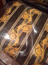 VERSACE Home decorative throw pillow yellow gold dark green 19 x 19