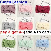 Newborn Rabbit Headband Cotton Elastic Baby Bowknot  Hair Band Girls Bow-knot