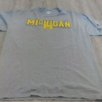 Russell Athletic Men's Michigan Gray Short Sleeve T-Shirt Size Large