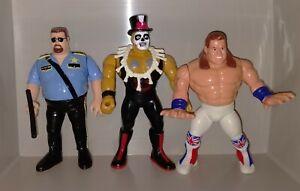 WWF HASBRO BULLDOG BOSSMAN PAPA SHANGO WWE WRESTLING FIGURES 1990'S