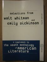 Selections from Walt Whitman and Emily Dickinson: