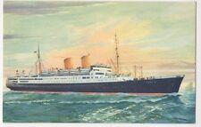 Norddeutscher Lloyd Bremen MS Berlin Shipping Art Postcard B623