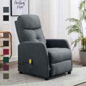 vidaXL Massagesessel Stoff Fernsehsessel Relaxsessel mehrere Auswahl
