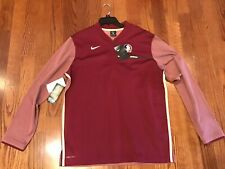 NWT! Florida State Seminoles Nike Adult Large On Field 1/4 ZIP Pullover