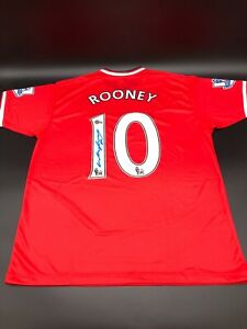 Wayne Rooney Signed Manchester United Soccer Jersey Beckett COA