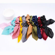 Ladies Fabric Bow Hair Band Hair Tie Ponytail Holder Scrunchies Accessories