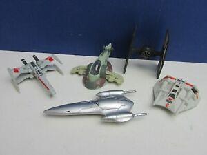 STAR WARS micro DIE-CAST MODEL SLAVE 1 X WING TIE FIGHTER SNOWSPEEDER lot set