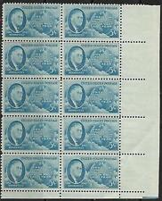 US Scott #933 - 5¢ Roosevelt block of 10 Stamps MNH + HISTORY OF THE STAMP
