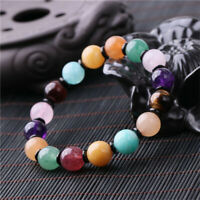 1pcs Crystal Multi precious Gemstone bracelet natural Tassel Lucky Buddhism