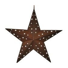 """RUSTIC 8"""" BARN STAR WALL HANGING w/ CUTOUT STARS COUNTRY PRIMITIVE SIGN 2-D NEW"""