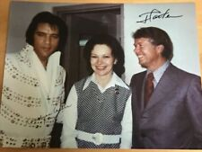 Jimmy Carter & Rosalyn Carter Dual Signed Photo featuring Elvis - JSA Authentic