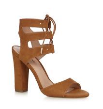 Call It Spring by Debenhams Womens UK 4 Tan Brown Faux Suede High Heel Sandals