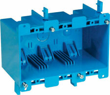 Carlon  5-3/4 in. Rectangle  PVC  3 gang Outlet Box  Blue