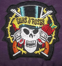 GUNS N' ROSES PATCH SKULL AND GUNS LOGO AXL ROSE SLASH BIKER HEAVY METAL DIY