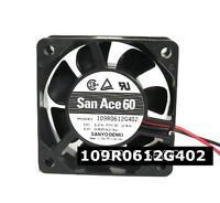 SANYO 109R0612G402 Double ball cooling fan DC12V 0.24A 60x60x25mm 2pin
