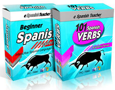 eSpanishTeacher Learn to Speak Spanish Language Software Course Version 3 PC Mac