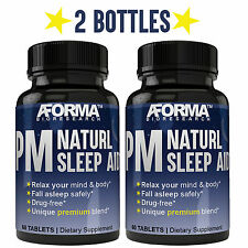 PM Natural Sleep Aid | 2MG Melatonin Sleep Pills, 100% Natural Sleep Support