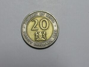 Kenya Coin - 1998 20 Shillings - Circulated, scratches