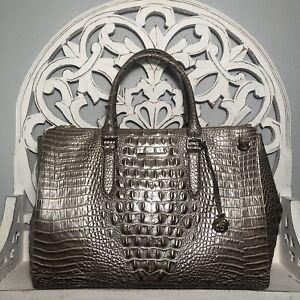 Brahmin Blake Satchel Moonscape Melbourne Leather $425
