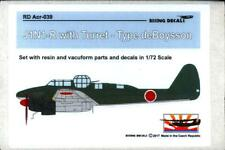 Rising Decals 1/72 NAKAJIMA J1N1-R GEKKO WITH DE BOYSSON TYPE TURRET Conv Kit