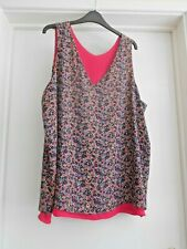 """""""NEXT"""" BEAUTIFUL MULTI-COLOURED FLORAL TUNIC TOP SIZE 20 – NEW!!!"""