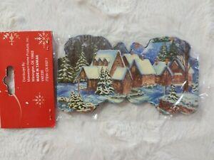 Retro CHRISTMAS PAPER GARLAND (10 feet Long) Rare NIP Christmas Snow Village