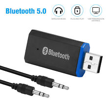 USB Bluetooth 5.0 Transmitter Wireless Audio 3.5mm AUX Stereo Adapter Receiver