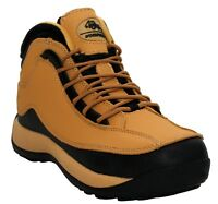 MENS LEATHER STEEL TOE CAP SAFETY WORKFORCE WORK BOOTS TRAINERS SHOES SIZE 6-12