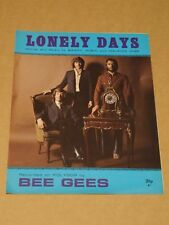 "Bee Gees ""Lonely Days"" sheet music"