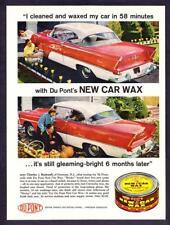 1956 Plymouth Savoy 2-door Hardtop photo 1958 Dupont Car Wax promo print ad