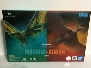 GENUINE^ S.H.MonsterArts Mothra & Rodan 2019 Godzilla King of Monster Bandai USA