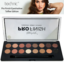Technic Pro Finish Professional Colour Eyeshadow Highly Pigmented Palette Toffee