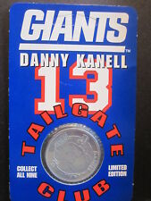 DANNY KANELL #13 Tailgate Club COIN 1998 Sealed New York football Giants