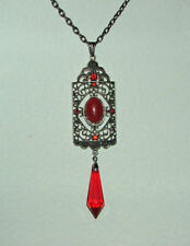 Silver Plated Coral Coral Costume Necklaces & Pendants