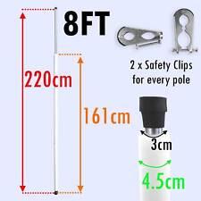 0.6x2.4m rechange Trampoline bâtons mât tube tuyau compatible avec boîtiers