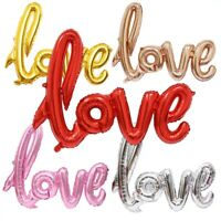 "42"" Rose Gold & RED Love Letter Script Foil Balloon Hen Party Wedding"