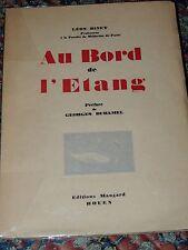 LEON BINET - Au bord de l'étang - E.O. avec envoi  1939  Science