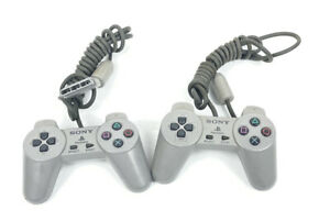 Ser Of 2 OEM Sony Playstation One PS1 Wired Controllers SCPH-1080 TESTED