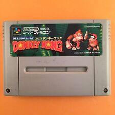 DONKEY KONG Nintendo Super Famicom Japan SNES SFC JP Video Game USED 516-3
