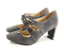 $ 90 size 9 Alfani PRIMA Bindii Steel Suede Heel Lace Up Oxfords Womens Shoes