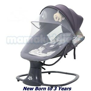 Baby Swing Bouncer 3in1 New born Electric Leaf Deluxe Bassinet Napper Upto18Kg