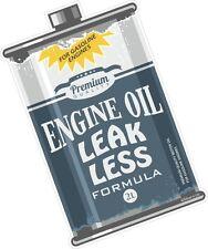 LEAK LESS Engine OIL CAN Retro Ratlook Motif Euro Rat Style Vinyl car sticker