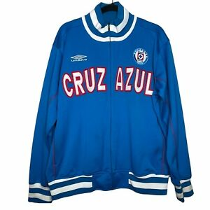 Umbro Cruz Azul Stitched Zip Up Jacket w/ pockets Size Large