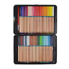 Assorted 48 Watercolor Water Soluble Pencil Iron Case Drawing Sketching
