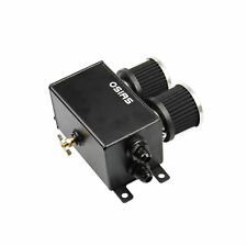 BLACK ALUMINUM OIL CATCH CAN RESERVOIR TANK WITH BREATHER FILTER BAFFLED OSIAS