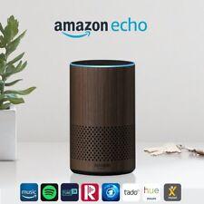 Amazon Echo (2. Generation), Intelligenter Lautsprecher mit Alexa, Nuss Optik